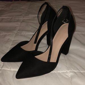 BRAND NEW Pointed Black Block Heel
